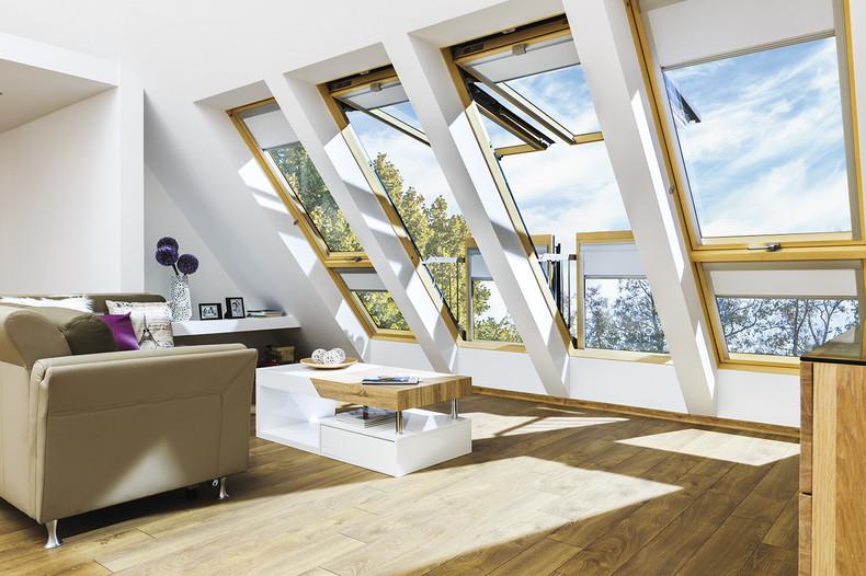 sunlight through roof windows