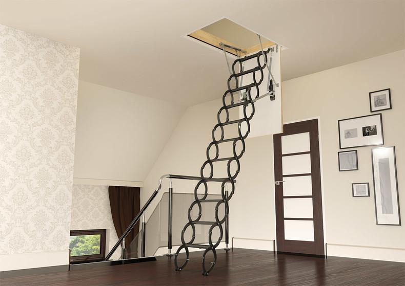 scissor loft ladder