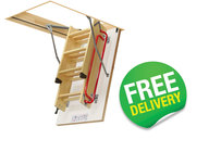 LWL Lux Folding Loft Ladder with Support Mechanism