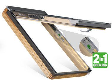 Top Hung Roof Windows with 2-in-1 Functionality