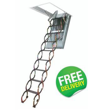 FAKRO Fire Resistant Scissor Loft Ladder - LSF