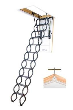 LSZ scissor loft ladder with bracket