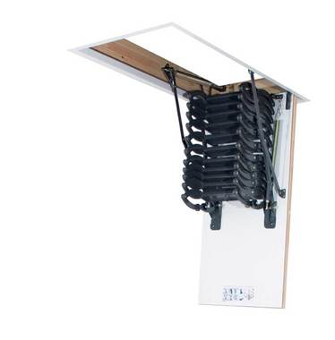 LSZ scissor loft ladder folded