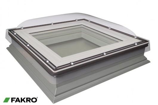 Domed flat roof window