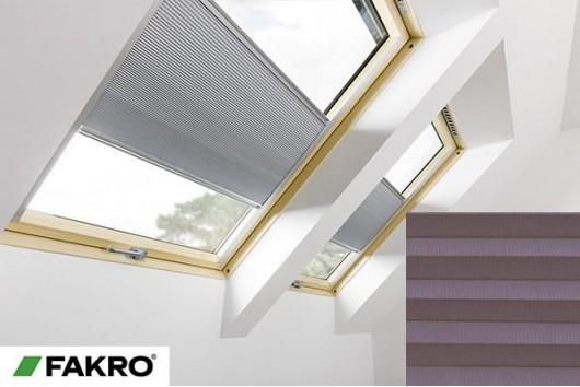 Pleated roof window blind