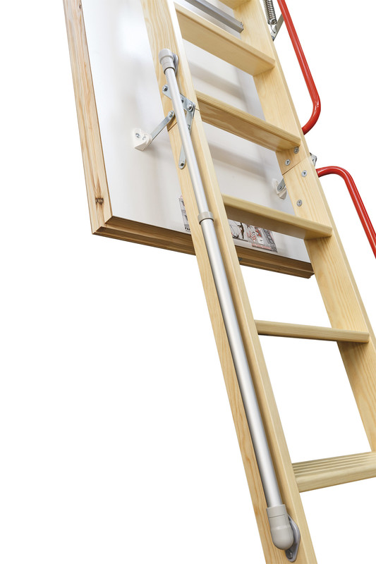 lwl lux wooden loft ladder with unfolding support mechanism roofwindows4you